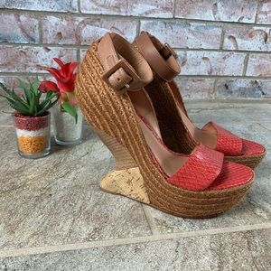 Leifsdotti Anthro Heel Less Wedge Sz 7